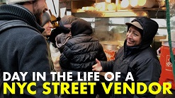 Day in the life of a NYC street vendor | Nowhere Men